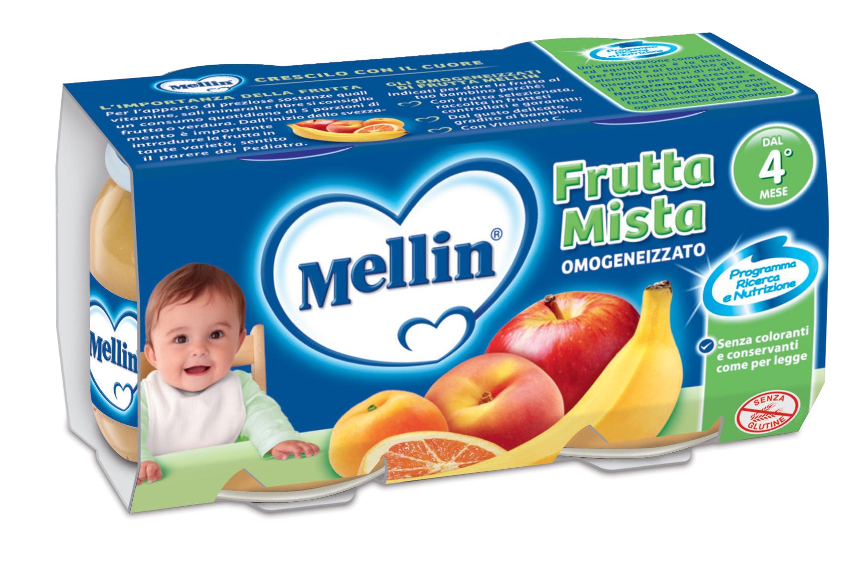 Omogeneizzati di frutta Mellin
