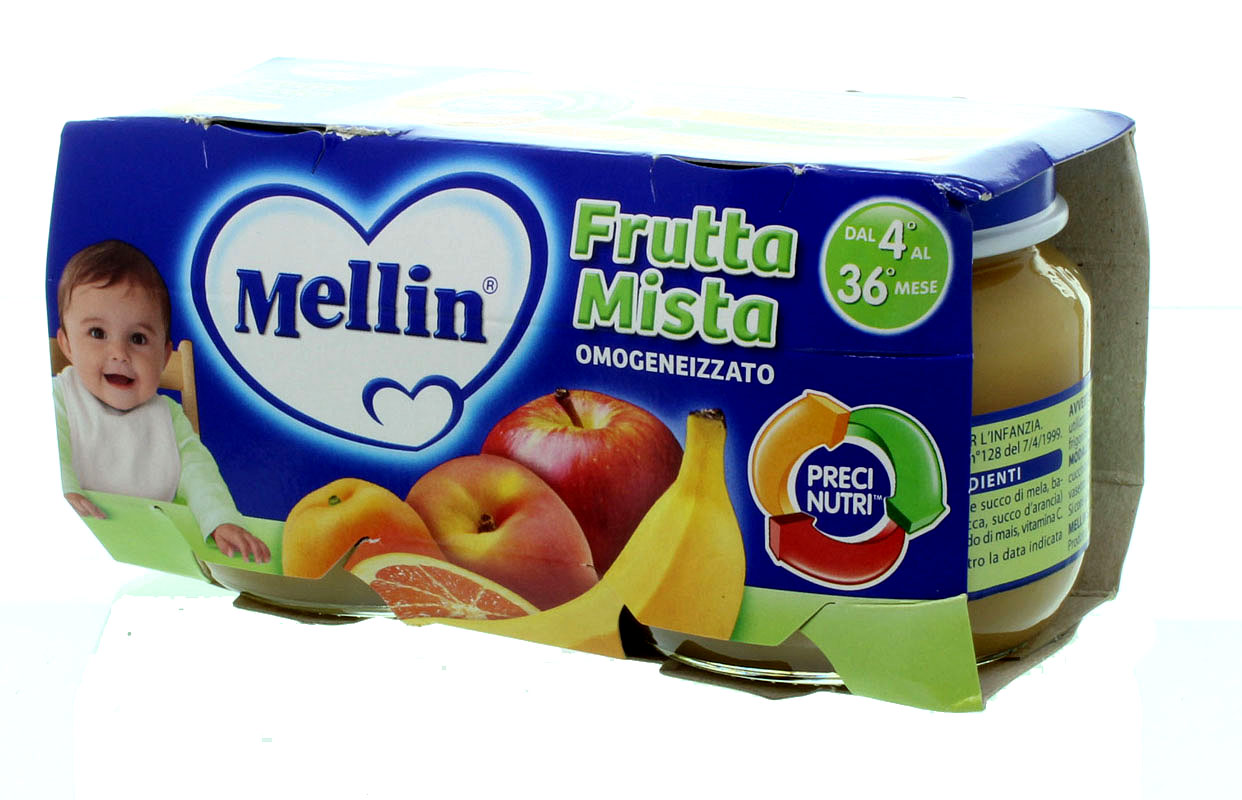 Omogeneizzato Frutta Mista Mellin
