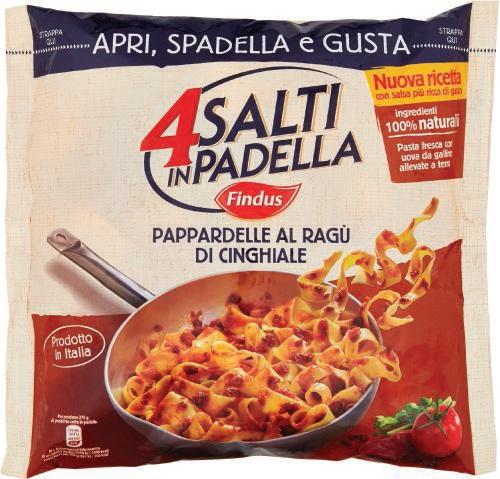 Pappardelle al rag di cinghiale 4 salti in padella findus for Cucinare 4 salti in padella