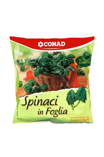 Spinaci in Foglia a Cubetti Conad