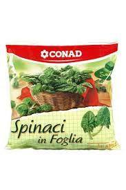 Spinaci in foglia surgelati Conad