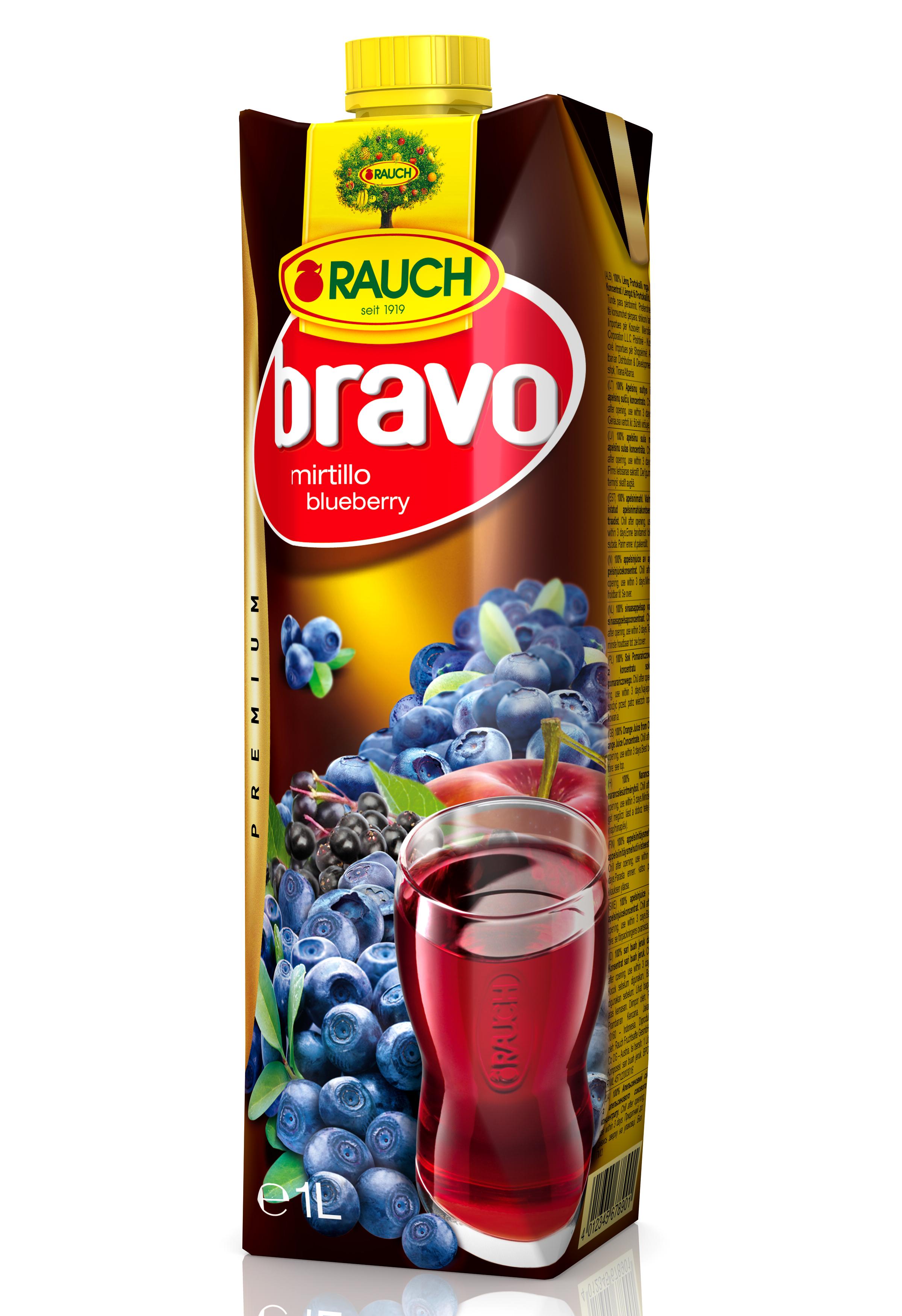 Succo Bravo Rauch Mirtillo