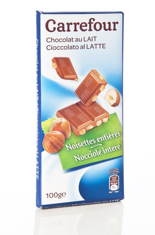 Tavoletta Cioccolato al Latte con Nocciole Intere Carrefour