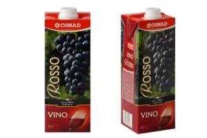 Vino rosso in brick Conad